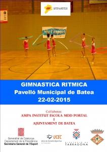 CARTELL G ritmica BATEA 2015